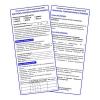 Контрольная карточка для электронного термоиндикатора (ККИ)